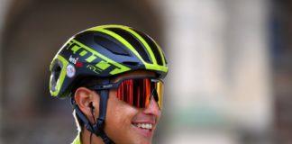 Esteban chaves segundo de la etapa 17 en el giro