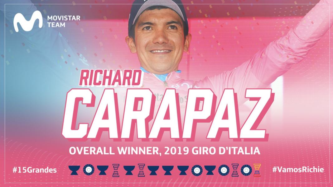 richard carapaz primer ecuatoriano en ganar un giro de italia